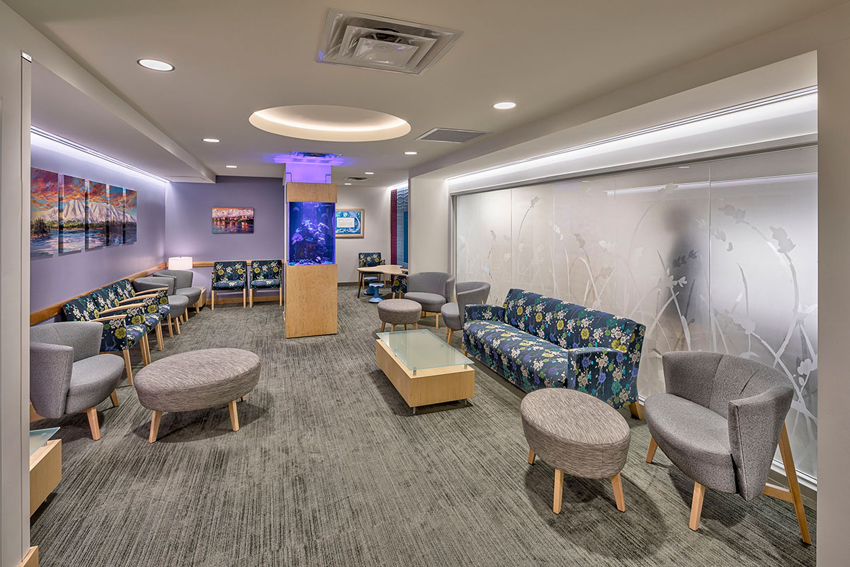 Waiting room of the Women's Care of Alaska Clinic Renovation